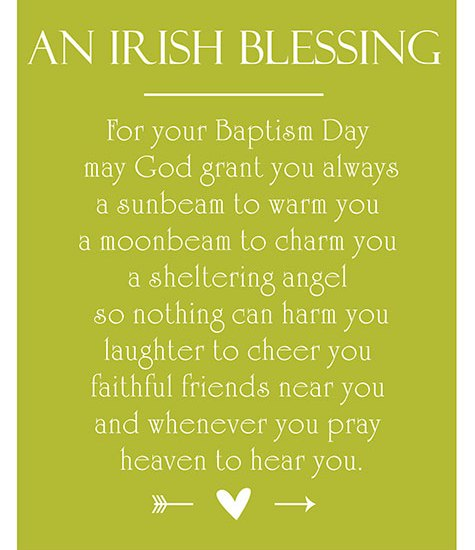Free Printable | Irish Baptism Blessing