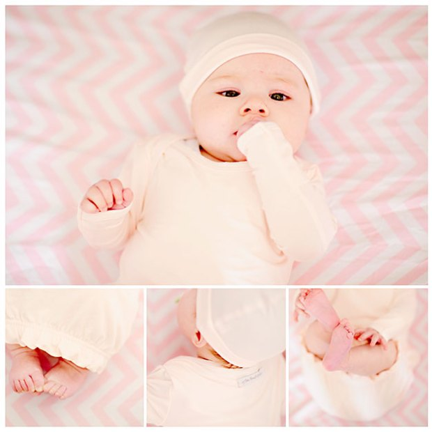 Girls Bamboo Layette Gowns | One Small Child