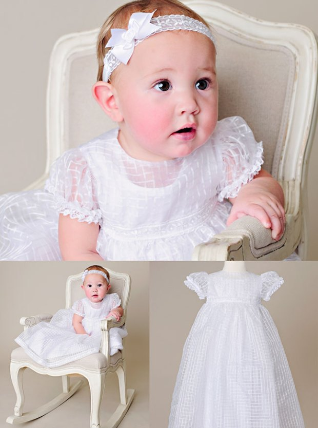 Amy Short Christening Dress by One Small Child