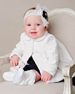 baby Minky Dot coat and boots