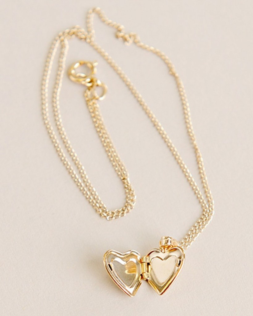 Gold Heart Diamond Locket