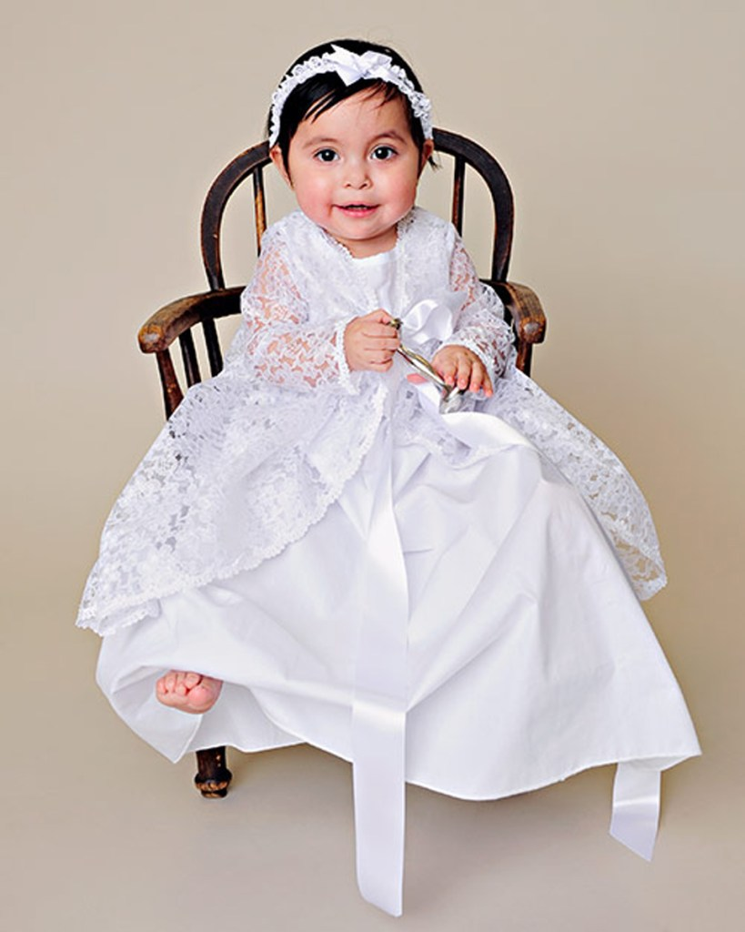 Kylie Lace Christening Jacket