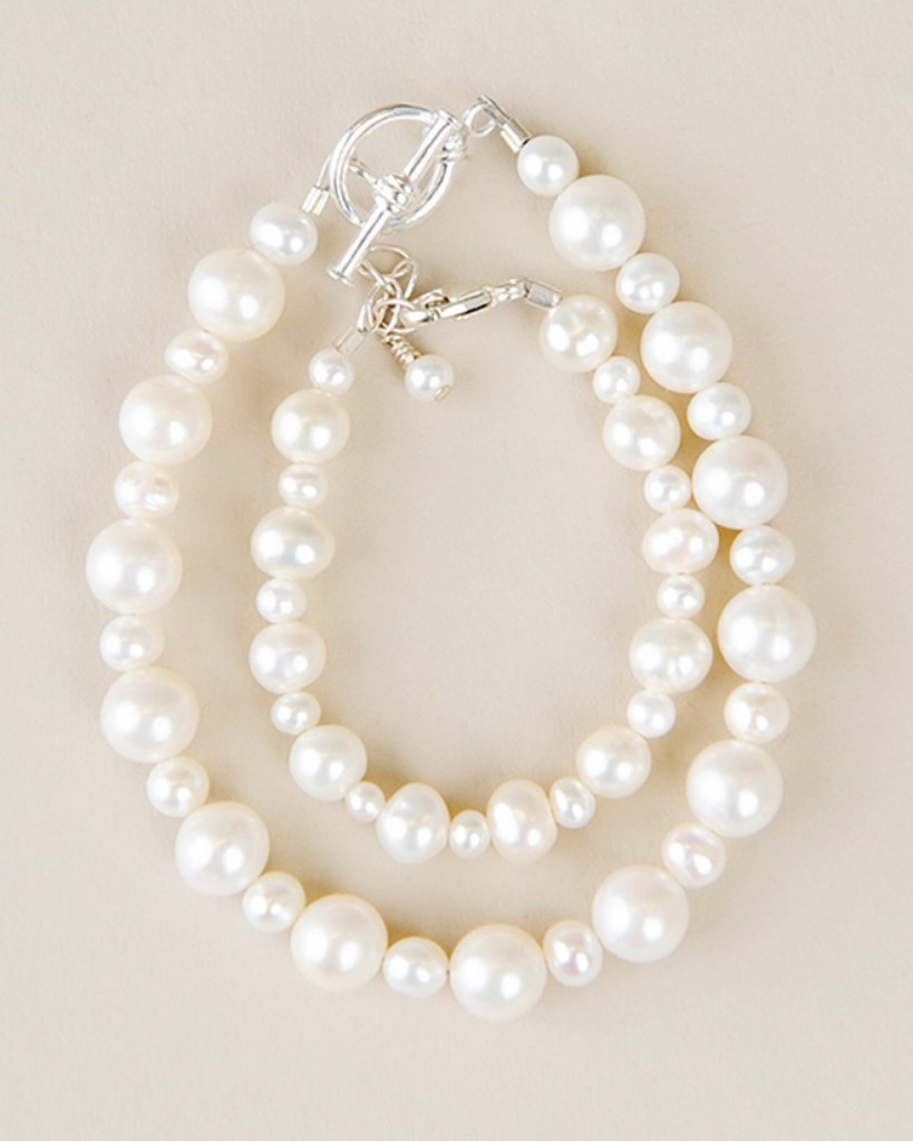 Mother & Child Pearl Bracelet Set