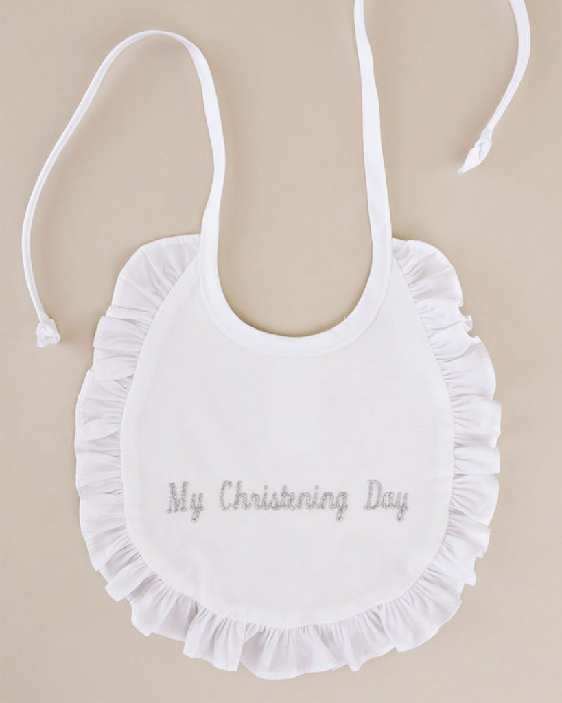 My Christening Day Ruffle Bib