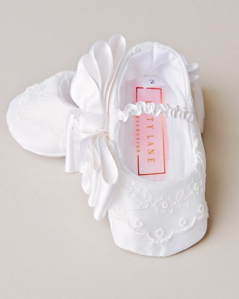 Natalia Christening Slippers