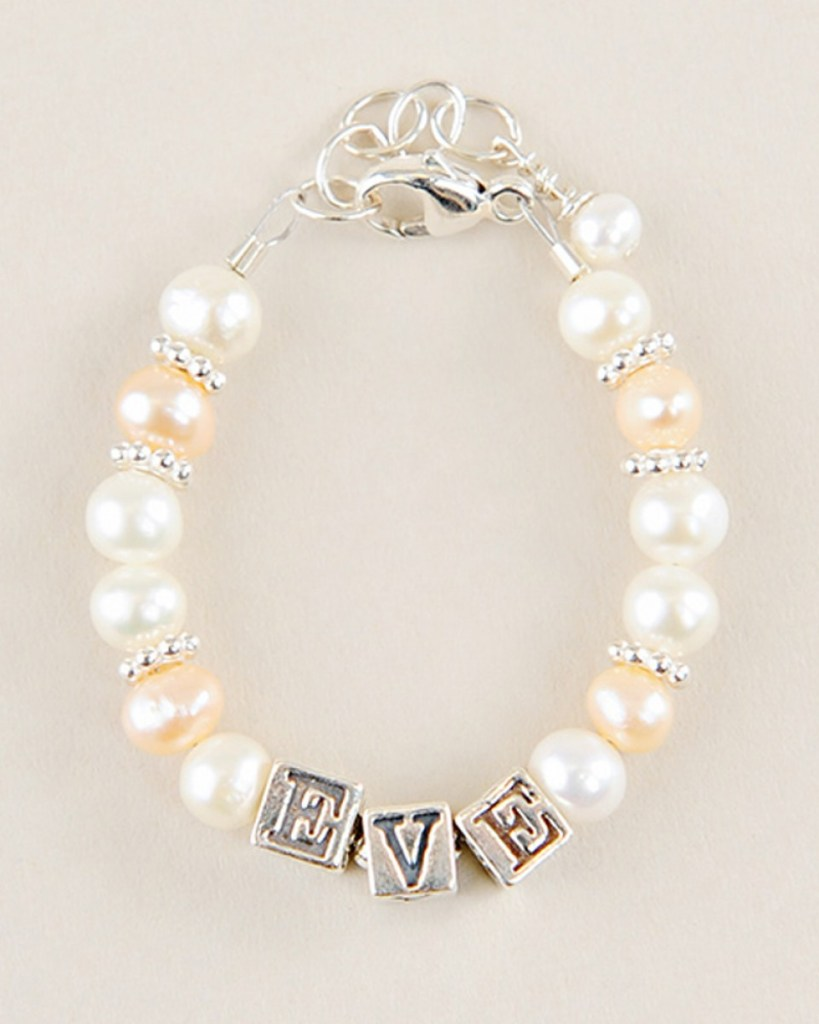 Rose Pearl Name Bracelet