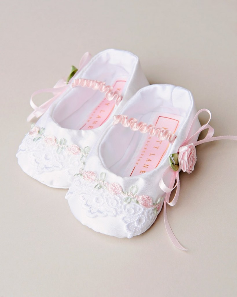 Venise Lace Christening Slipper