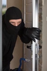 thief at safe door