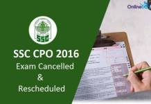 SSC-CPO-Exam-Cancelled-2016-Reschedule-Dates