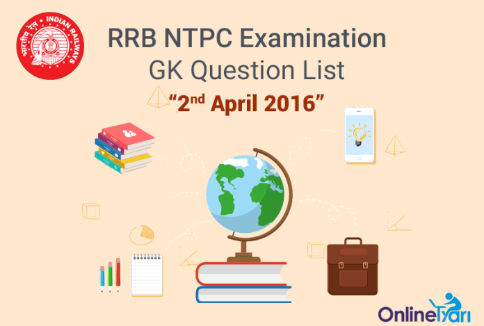RRB-NTPC-GK-Exam-Questions-2-April-2016