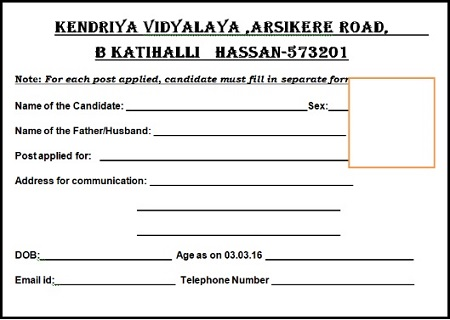 CTET KV Form Registration