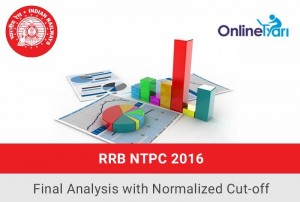RRB NTPC 2016: Final Exam Analysis with Normalized Cut-off