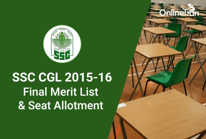 SSC CGL Result 2015 Merit List & Final Seat Allotment