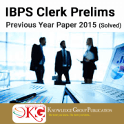 IBPS Clerk Prelims Previous Year Paper 2015