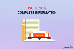 SSC JE 2016 Recruitment Examination