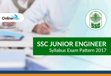 SSC Junior Engineer Syllabus Exam Pattern 2017
