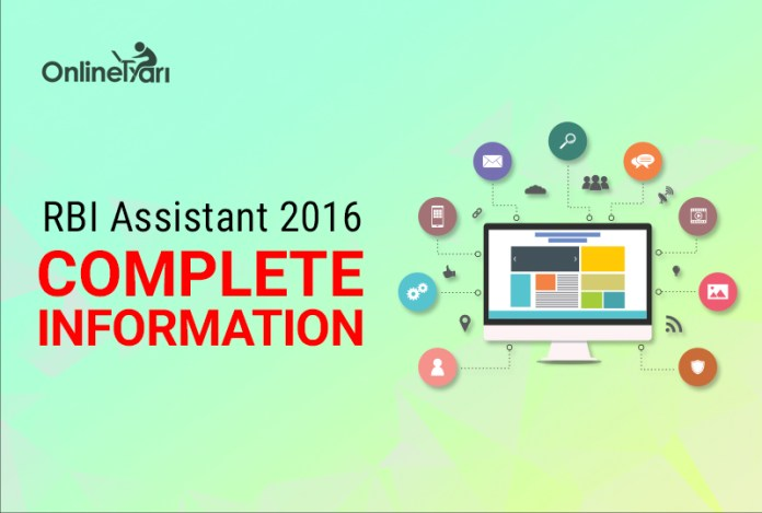 RBI Assistant 2016 Complete Information