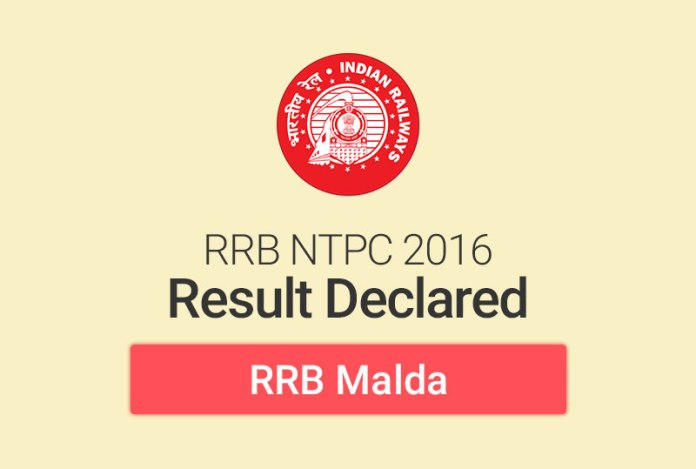 RRB NTPC Result 2016 for Malda: Check Merit List