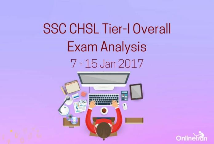 SSC CHSL Tier 1 Overall Exam Analysis: 7-15 January 2017 (All Shifts)