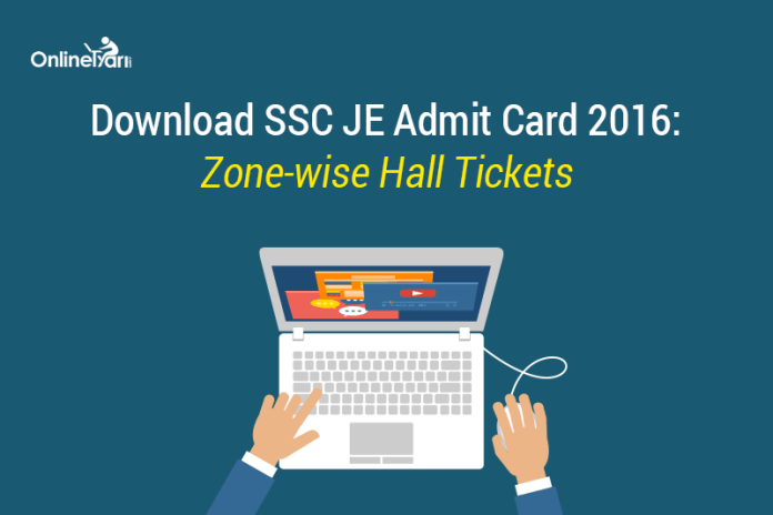 Download SSC JE Admit Card 2016: Zone-wise Hall Tickets