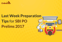 Last Week Preparation Tips for SBI PO 2017 Examination