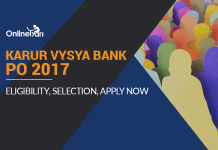 Karur Vysya Bank PO 2017: Eligibility, Selection, Pattern, Apply Now
