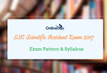 SSC Scientific Assistant Syllabus Exam Pattern 2017: Check here