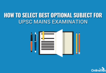 How to Select Best Optional Subject for UPSC Mains Examination