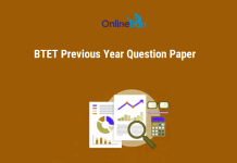 Download BTET Previous Year Question Paper for Free