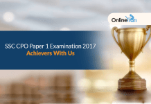 SSC CPO Paper 1 Examination 2017: Achievers With Us
