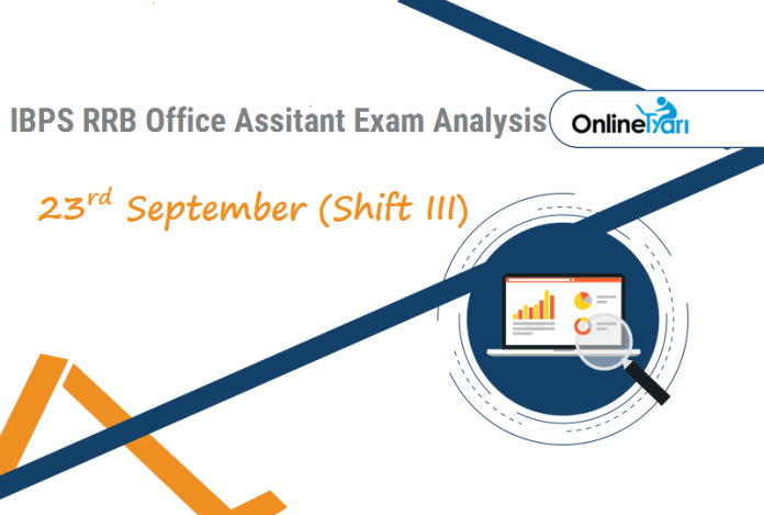 IBPS RRB Assistant Exam Analysis | 23rd September Shift 3