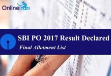 SBI PO Result 2017, Final Allotment List: Direct link to check your result