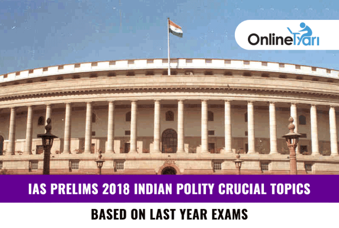 IAS Prelims Indian Polity Crucial Topics 2018: Based on Last Year Exams