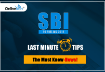 SBI PO Prelims Last Minute Preparation Tips 2018