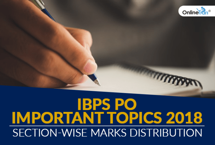 IBPS PO Important Topics 2018: Section-Wise Marks Distribution