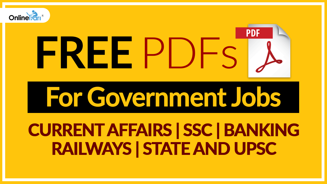 FREE PDFs For Government Jobs: Current Affairs, SSC, Banking