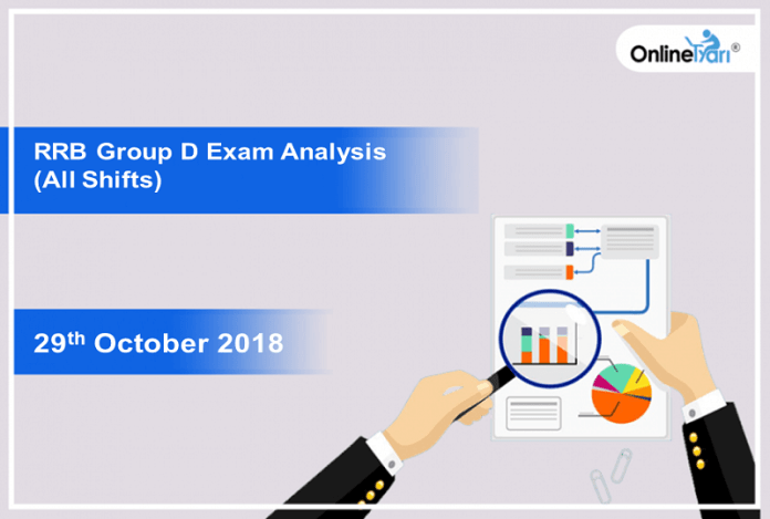 RRB Group D Exam Analysis 2018 (All Shift): 29th October