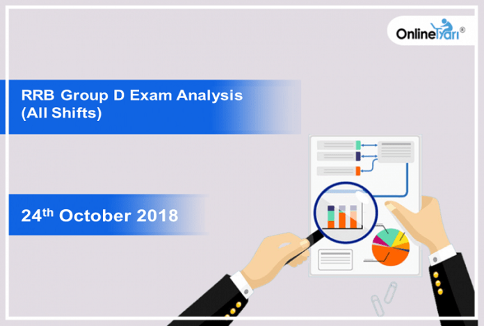 RRB Group D Exam Analysis 2018 (All Shift): 24th October
