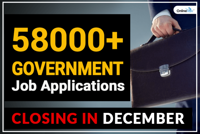 58000 Government Job Applications Closing in dec