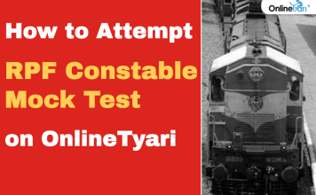 How to Take RPF Constable Mock Test on OnlineTyari Platform