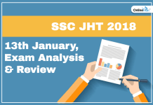 SSC JHT Exam Analysis, Paper Review 2018: 13th January 2019