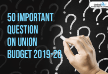 50 Important Question on Union Budget 2019-20