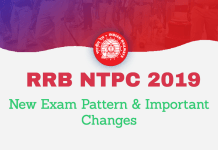 RRB NTPC 2019 New Exam Pattern & Important Changes