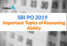 SBI PO Prelims 2019: Important Topics of Reasoning Ability Section