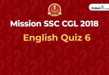 SSC English Quiz 6