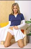 The feeling of smooth cotton panties against Melanie makes her feel so horny and wet