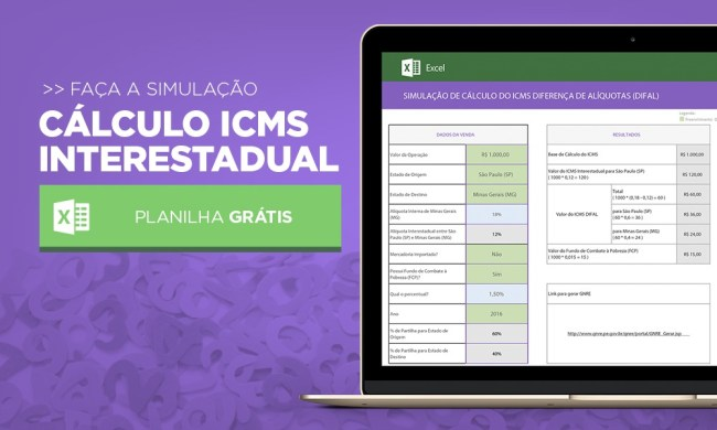 Planilha ICMS Interestadual