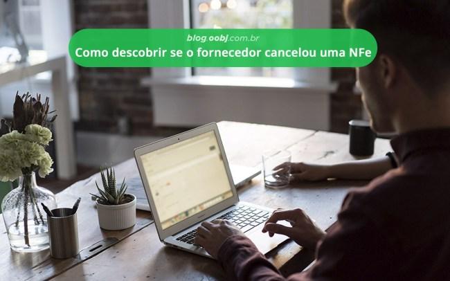 fornecedor cancelou a nfe