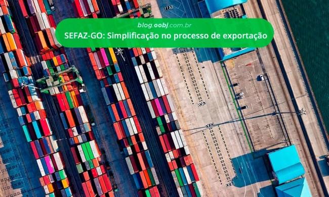 sefaz GOIÁS Simplificação para exportação