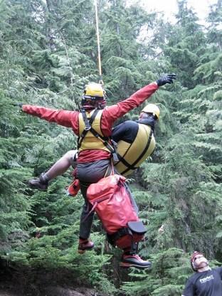Rescuing a hiker at Buntzen Lake in 2008